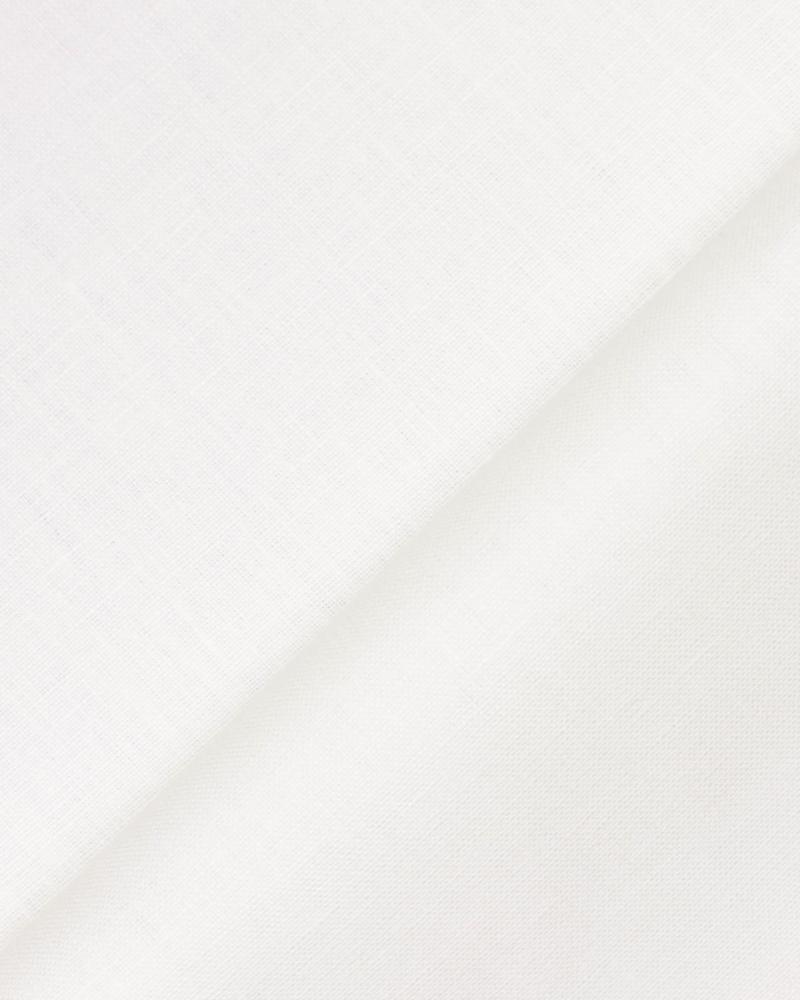 Melia flax fabric in 150 cm White - Tissushop