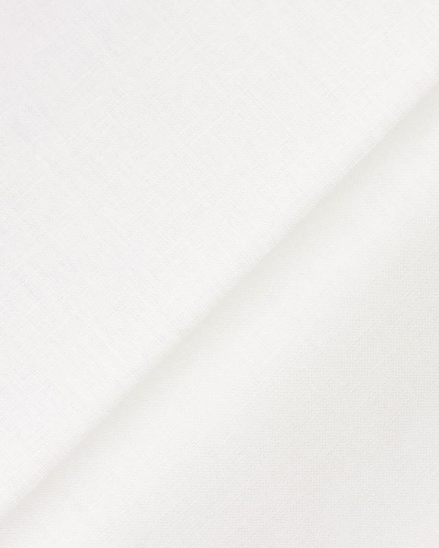 Toile de lin Melia en 150 cm Blanc - Tissushop