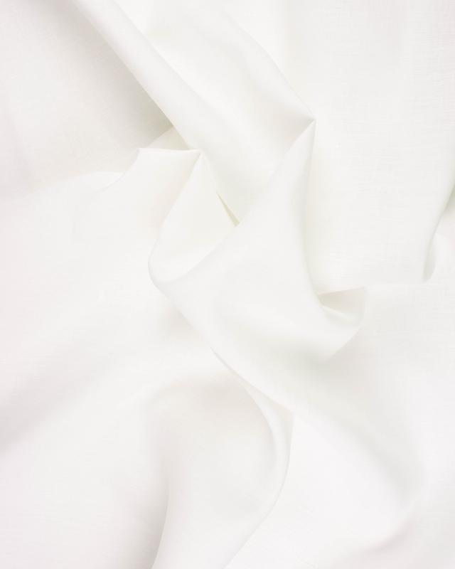 Linen fabric Paloma in 300 cm White - Tissushop