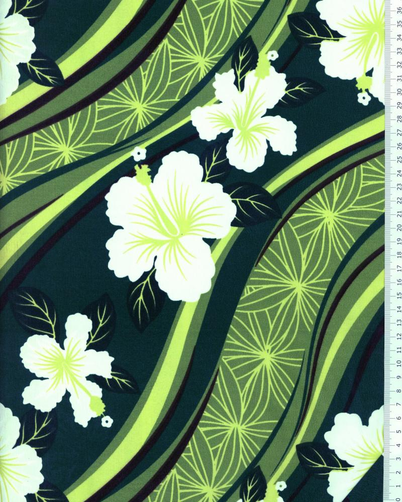 Polynesian Fabric VAIORA Green - Tissushop