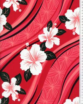 Tissu Polynésien VAIORA Rose - Tissushop