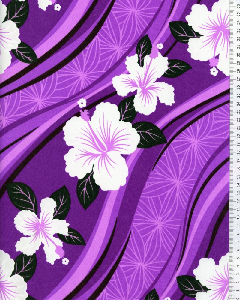 Tissu Polynésien VAIORA Violet - Tissushop
