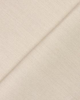Toile de lin enduit Blanc Cassé - Tissushop