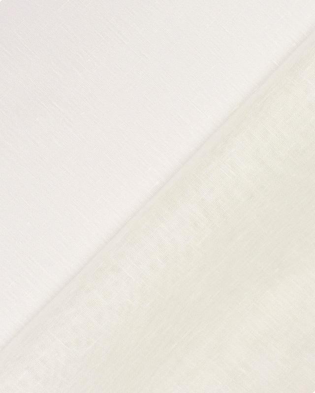 Voile de lin en 160 cm Blanc Cassé - Tissushop