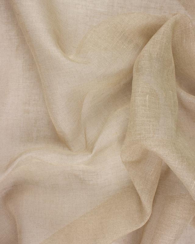 Voile de lin en 160 cm Naturel - Tissushop
