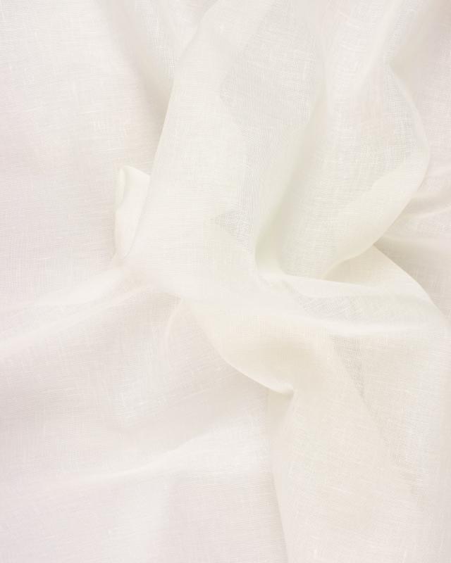Voile de lin en 320 cm Blanc Cassé - Tissushop