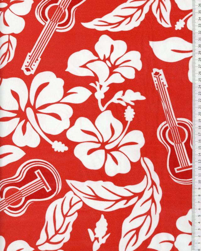 Tissu Polynésien TITA Rouge - Tissushop