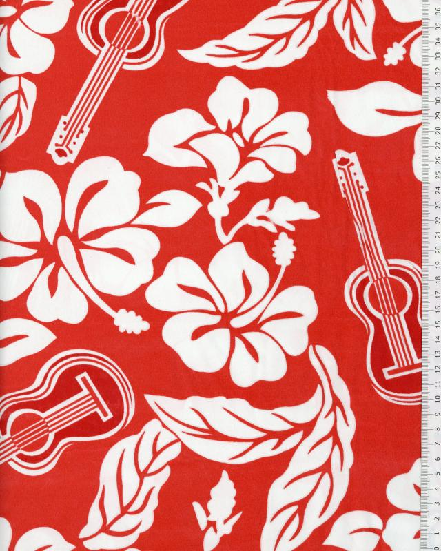 Polynesian Fabric TITA Red - Tissushop