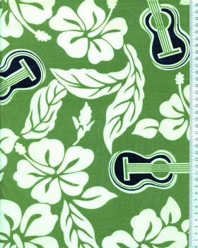 Tissu Polynésien TITA Vert - Tissushop