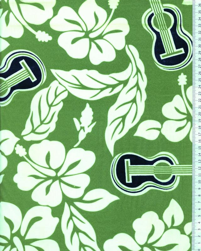 Polynesian Fabric TITA Green - Tissushop