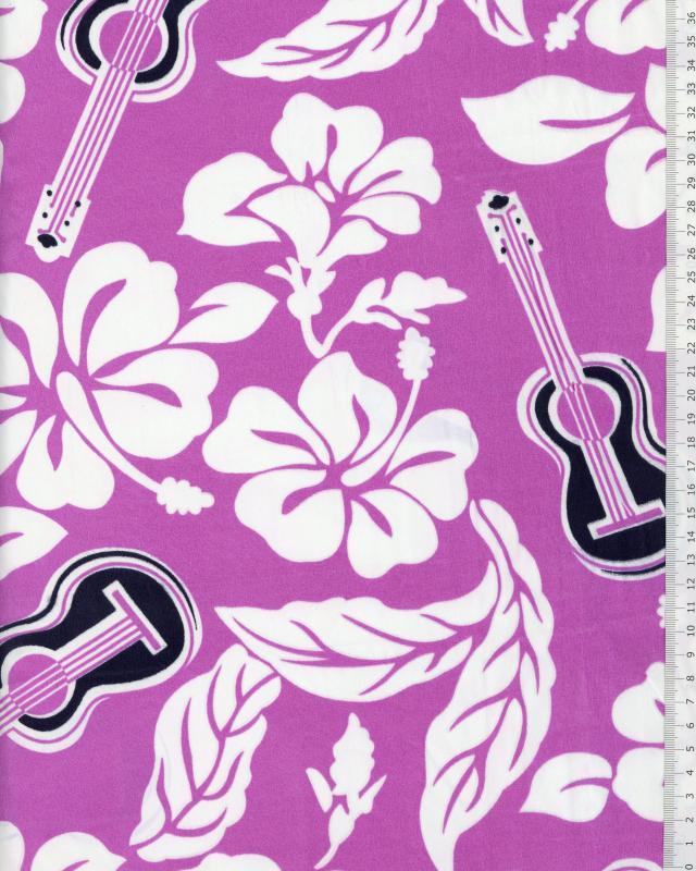 Polynesian Fabric TITA Purple - Tissushop