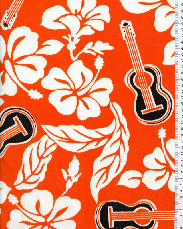 Polynesian Fabric TITA Orange - Tissushop