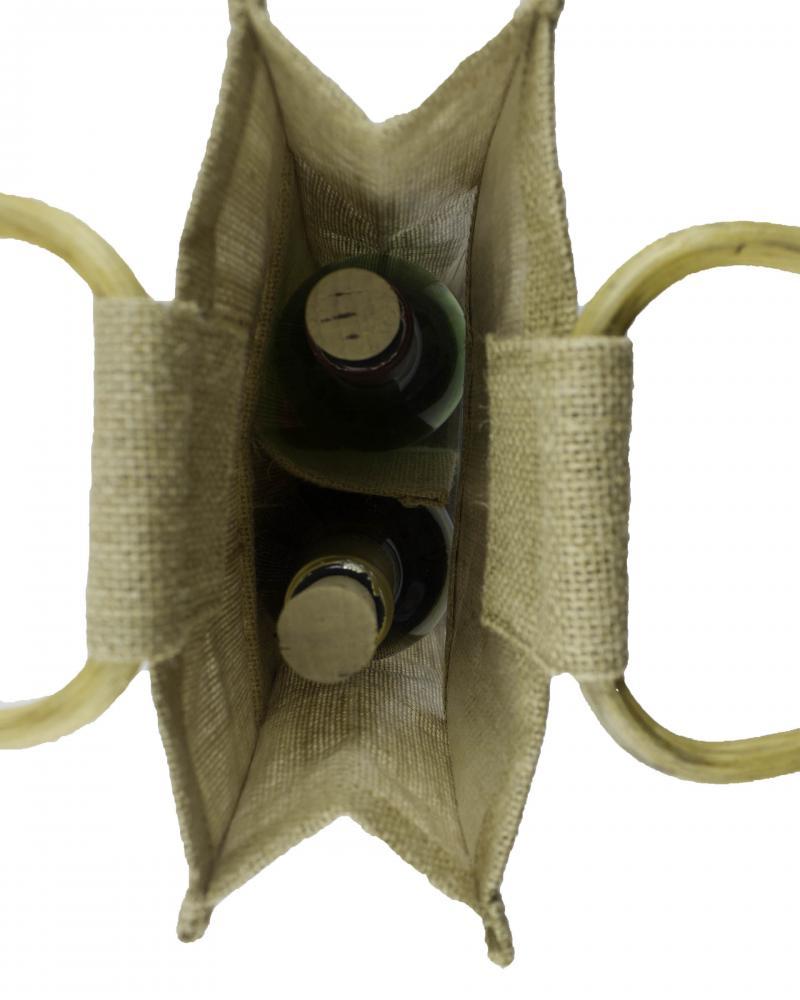 Jute Bag - Capacity 2 bottles Natural - Tissushop