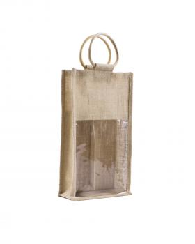 Jute Bag - Capacity 2 bottles Natural - Tissushop