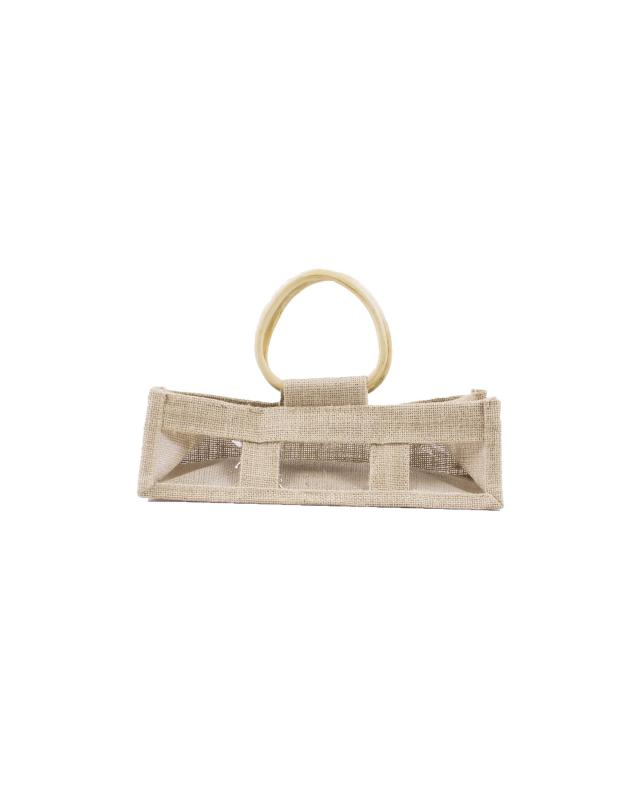 Jute Bag - Capacity 3 Pots Natural - Tissushop