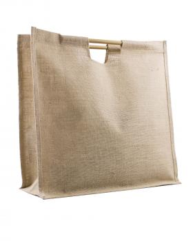 Grand Sac Shopping Bag en Toile de Jute Naturel - Tissushop