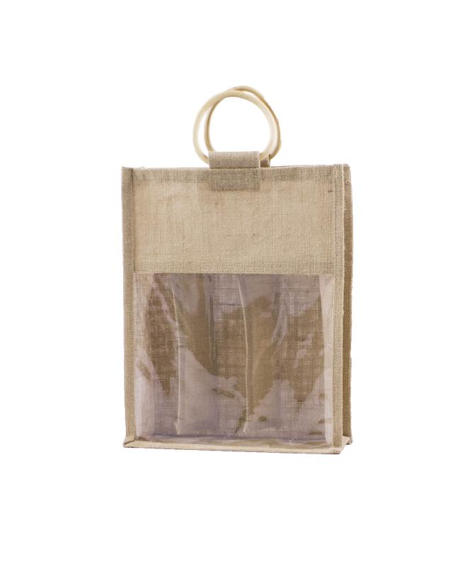 Jute Bag - Capacity 6 Bottles Natural - Tissushop