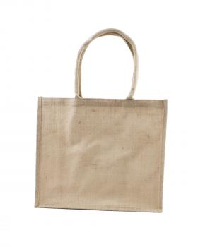 Petit Sac Shopping Bag en Toile de Jute Naturel - Tissushop