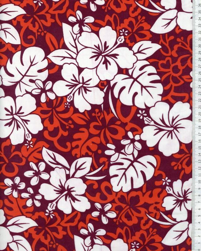Polynesian Fabric HEI Red - Tissushop