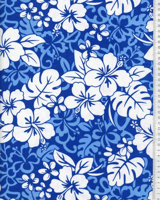 Polynesian Fabric HEI Blue - Tissushop