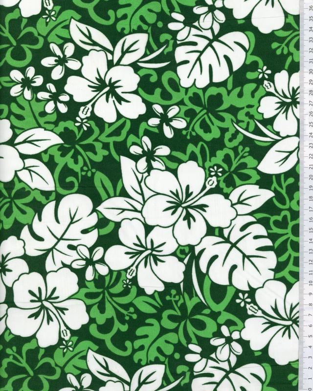 Polynesian Fabric HEI Green - Tissushop