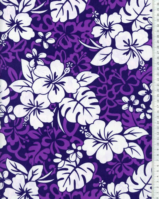 Polynesian Fabric HEI Purple - Tissushop