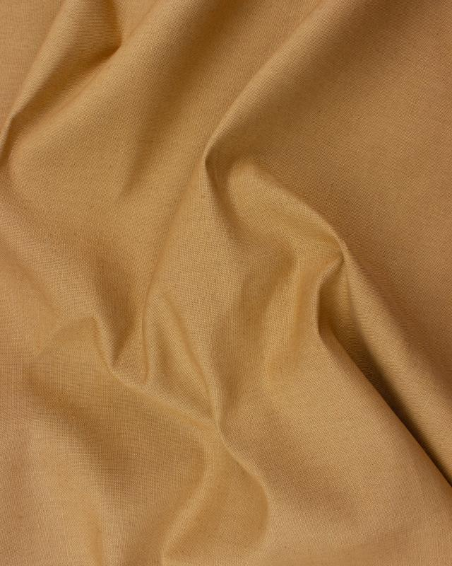 Coton / Lin Uni Camel - Tissushop