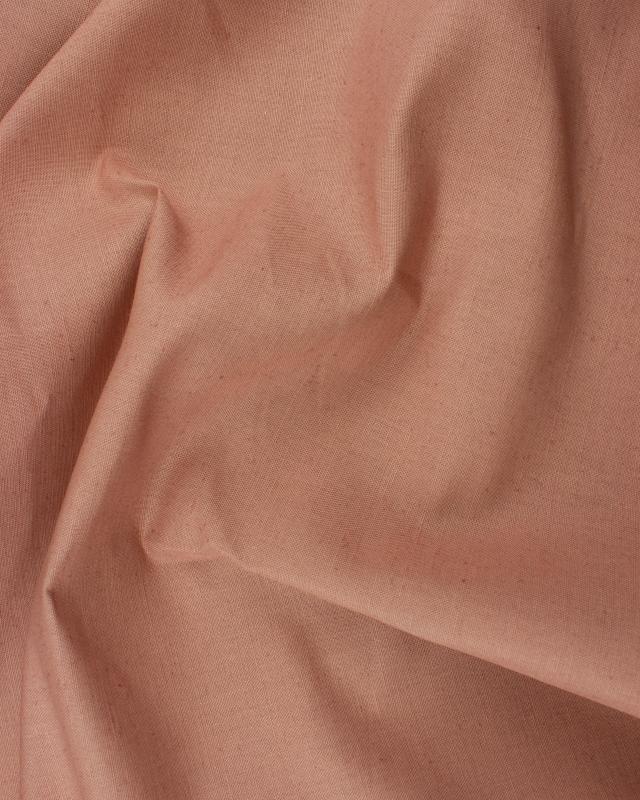 Coton / Lin Uni Vieux Rose - Tissushop