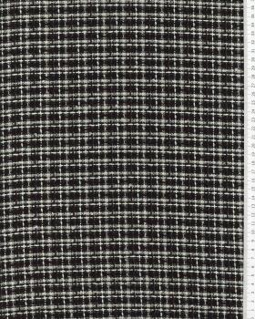 Tweed with squares Black - Tissushop