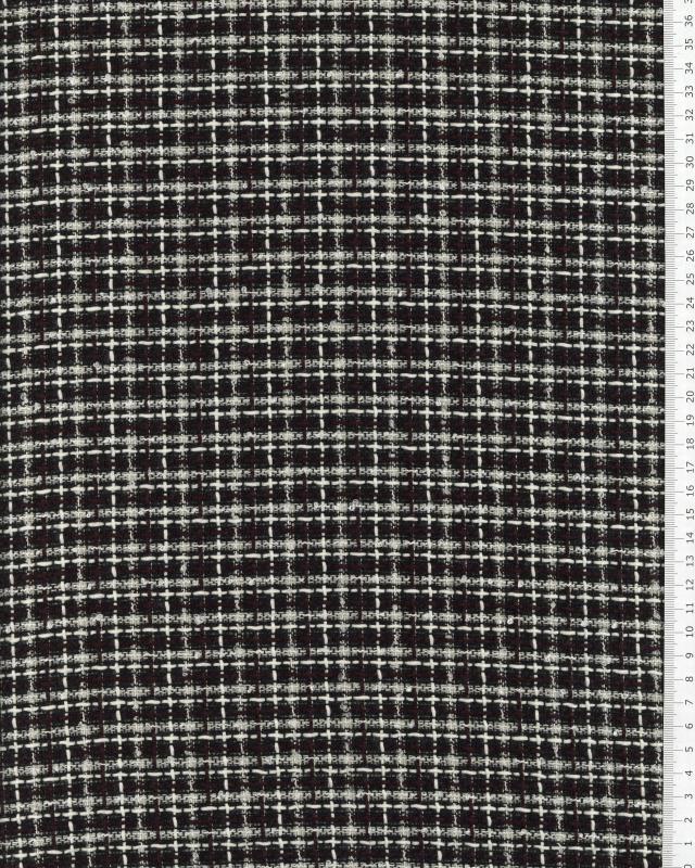 Tweed à carreaux Noir - Tissushop