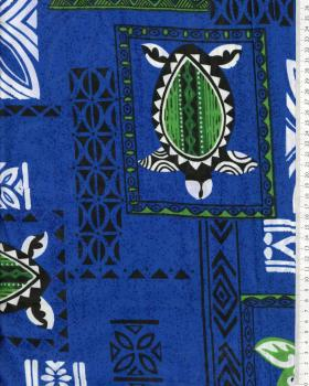 Polynesian Fabric APEAU Blue - Tissushop