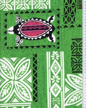 Tissu Polynésien APEAU Vert - Tissushop
