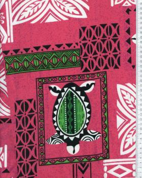 Tissu Polynésien APEAU Rose - Tissushop