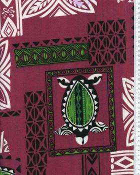 Tissu Polynésien APEAU Violet - Tissushop