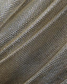 Lurex Metallic Mesh 2 Tones Black / Beige - Tissushop