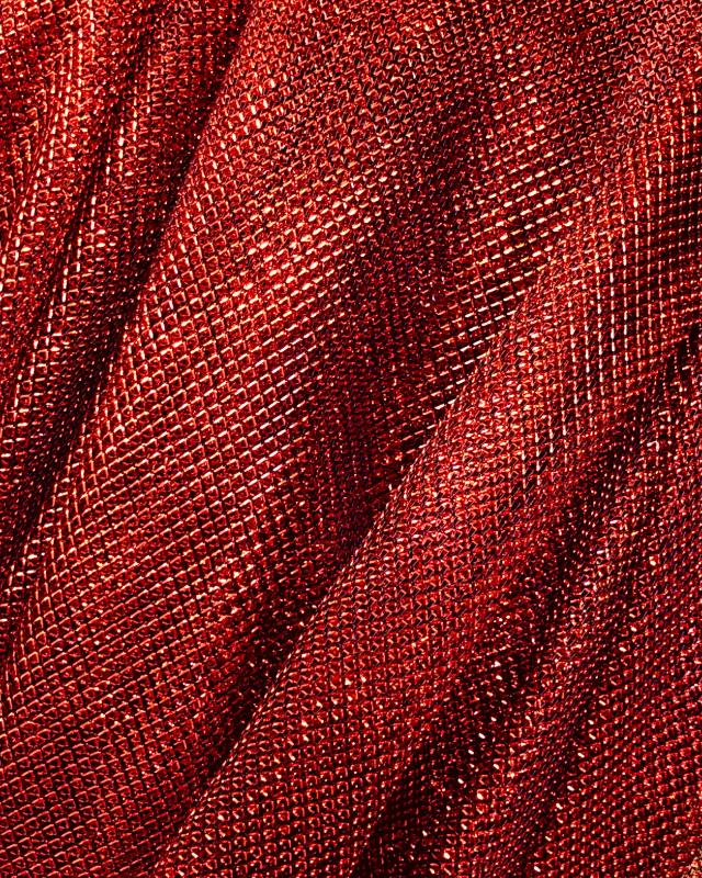 Tulle Lurex Métallique 2 Tons Noir / Rouge - Tissushop