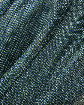 Lurex Metallic Mesh 2 Tones Black / Blue - Tissushop