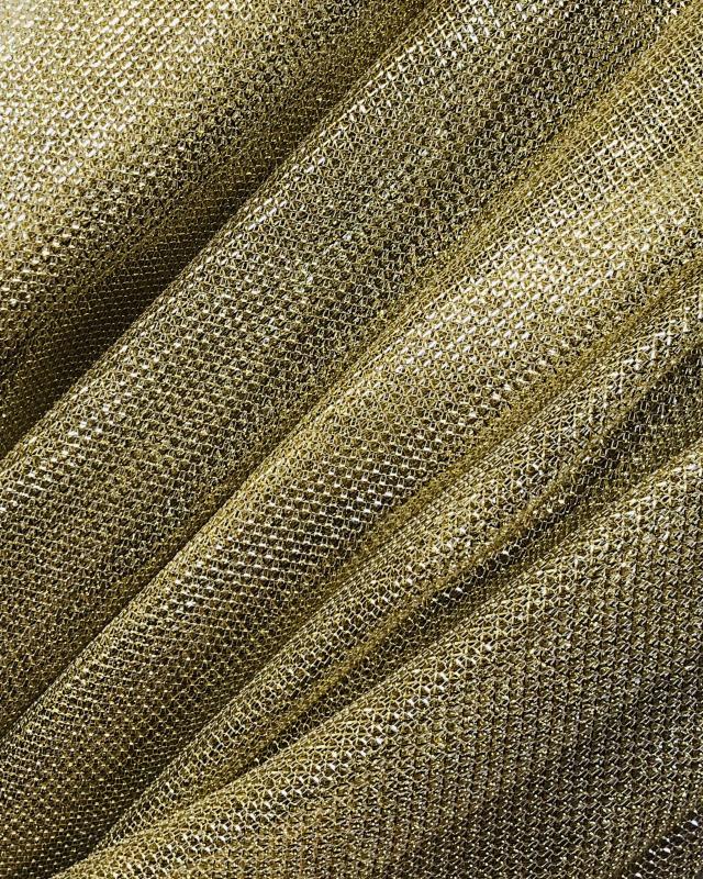 Lurex Metallic Mesh 2 Tones Black / Gold - Tissushop