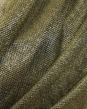 Lurex Metallic Mesh 2 Tones Black / Golden - Tissushop