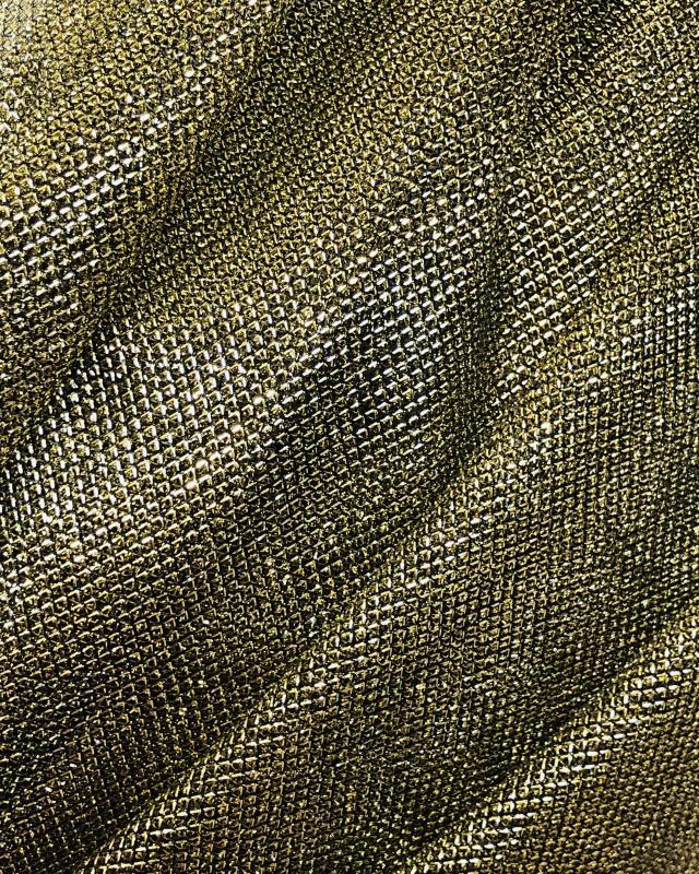 Lurex Metallic Mesh 2 Tones Black / Golden - Tissushop