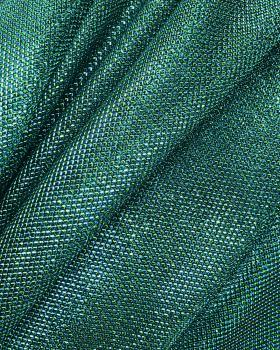 Lurex Metallic Mesh 2 Tones Black / Green - Tissushop