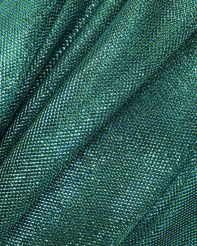 Lurex Metallic Mesh 2 Tones Black / Green - Tissushop