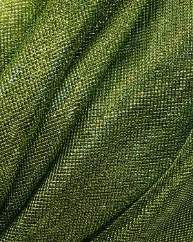 Lurex Metallic Mesh 2 Tones Black / Spring Green - Tissushop