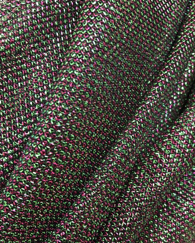 Lurex Metallic Mesh 2 Tones Black / Hydrangea - Tissushop