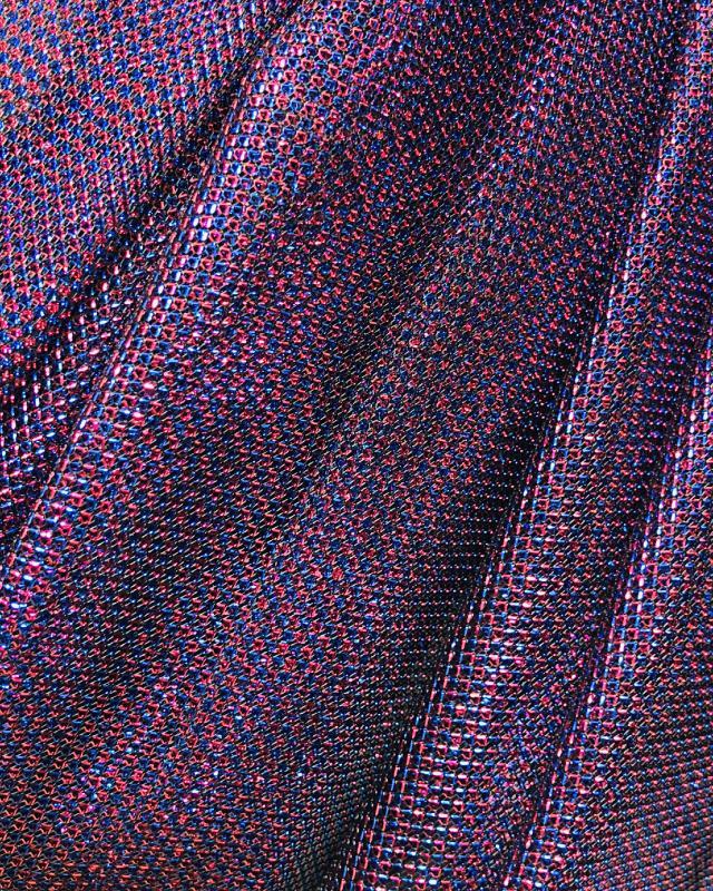 Lurex Metallic Mesh 2 Tones Black / Purple - Tissushop