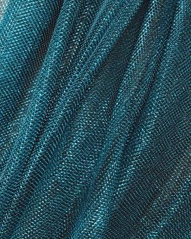 Lurex Metallic Mesh 1 Tone Blue Lagon - Tissushop