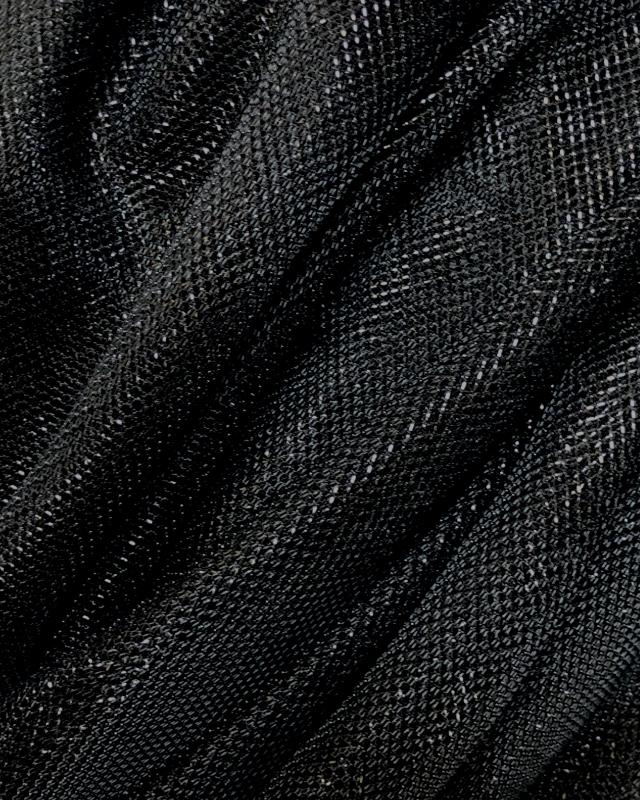 Lurex Metallic Mesh 1 Tone Black - Tissushop