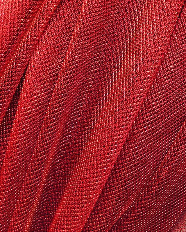Lurex Metallic Mesh 1 Tone Red - Tissushop
