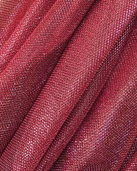 Tulle Lurex Metallic 1 Ton Rouge Brique - Tissushop