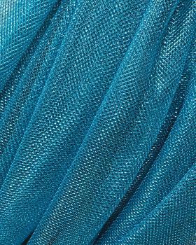 Lurex Metallic Mesh 1 Tone Turquoise Blue - Tissushop
